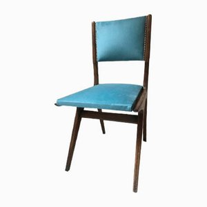 Chaises de Salon en Bois et Textile, Italie, 1950s, Set de 2