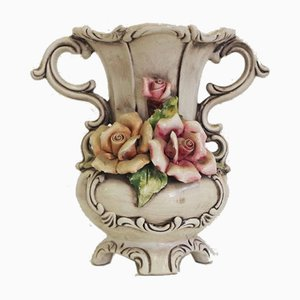 Floral Pitcher from Capodimonte, 1940s