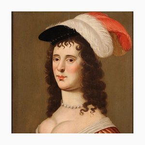 Antique Portrait of a Lady, Oil on Panel, 18th Century