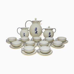 Service à Café Peint à la Main en Porcelaine par Guido Andlovitz pour Verbano Laveno, 1930s, Set de 27