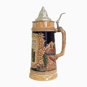 Deutscher Bierkrug aus Keramik, 1980er