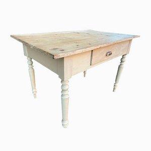 Französischer Bauerntisch aus Tannenholz, 1920er