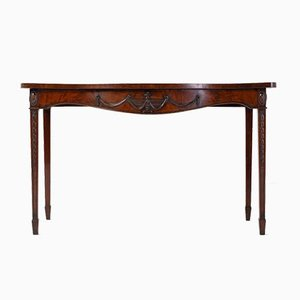 18th Century George III Mahogany Adam Style Serpentine Side Table