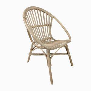 Vintage Rattan Shell Stuhl