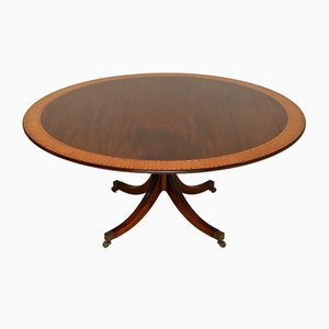 Antique Regency Style Inlaid Dining Table from Tillman