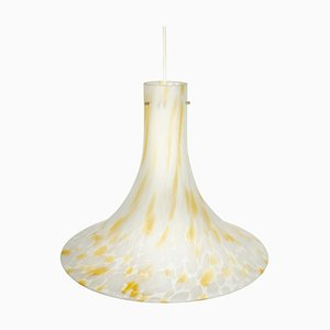 Large German Glass Pendant Light by Peill & Putzler, 1970s