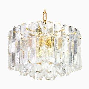 Austrian Gilt Brass & Crystal Glass Palazzo Light Fixture from Kalmar, 1970