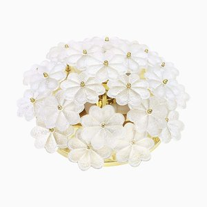 German Murano Glass Flower Wall Light by Ernst Palme, 1970s