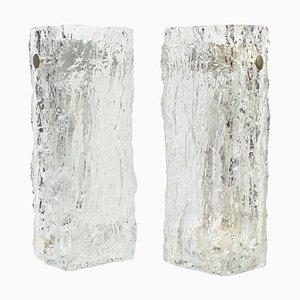 Deutsche Murano Eisglas Vanity Wandleuchten von Kaiser, 1970er, 2er Set