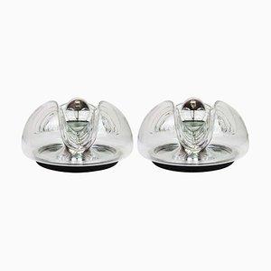 Große Deutsche Wandlampen oder Deckenlampen von Koch & Lowy für Peill & Putzler, 2er Set