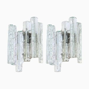 Large Austrian Murano Glass Wall Lights in the Style of Kalmar, 1960s, Set of 2