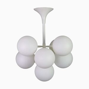 Swiss White Atomic Ceiling Lamp by E.R. Nelel for Temde, 1960s