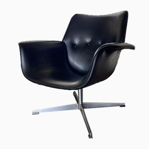 Modernist Black Lounge Chair, 1960s