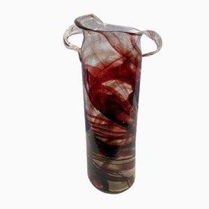 Vaso Red Roller di Serge Mansau per Murano, 1992