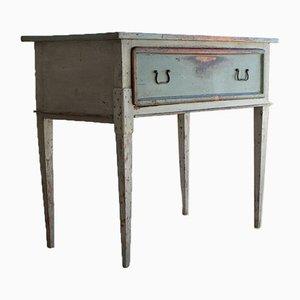 Rustikaler italienischer Tannenholz Schreibtisch, 19. Jh