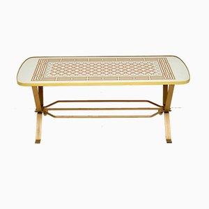 Table Basse Vintage avec Plateau en Miroir, 1970s