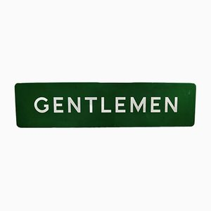 Cartel de caballero británico vintage esmaltado