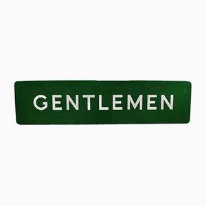 Insegna di smalto Gentleman's Rail vintage, Inghilterra