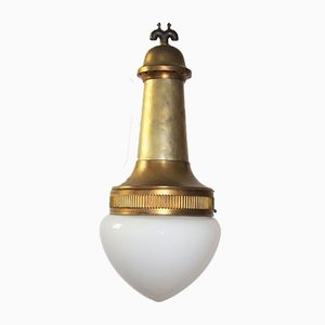 Large Brass Lamp by Otto Wagner for the Steinhof Hospital Vienna