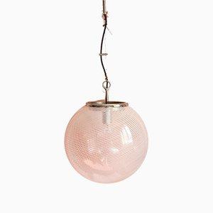 Mid-Century Italian Globe Ceiling Lamp by Venini, 1960s