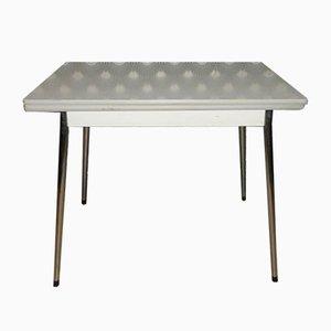 Tavolo da cucina allungabile in metallo cromato e formica, anni '60