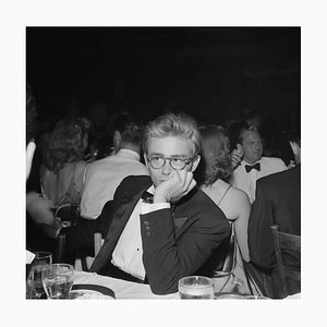 James Dean Silver Gelatin Resin Print Framed in White by Earl Leaf