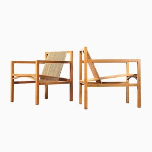 Slat Easy Chairs by Ruud Jan Kokke for Metaform, 1986, Set of 2