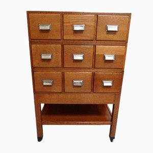 Vintage Dutch Oak Filing Cabinet