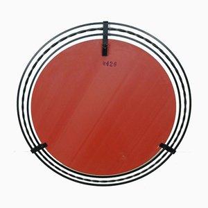 Großer runder Spiegel mit Rahmen aus Schmiedeeisen, 1960er