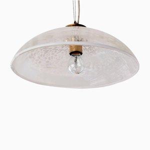 Lampe à Suspension en Verre Mottelé de Peill & Putzler, 1970s