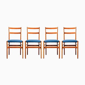 Vintage Leggere Chairs by Gio Ponti for Cassina, Set of 4