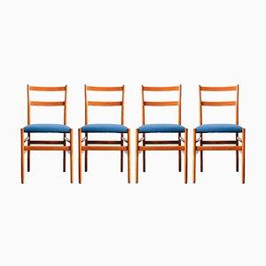 Vintage Leggere Sessel von Gio Ponti für Cassina, 4er Set