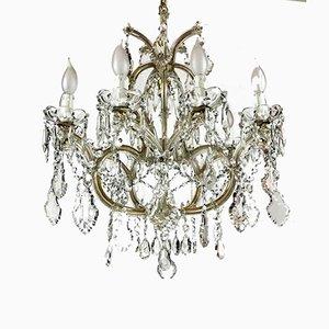 Restaurierter Vintage Kristallglas Kronleuchter