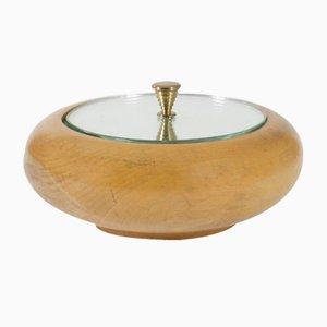 Box aus Holz & Spiegelglas von Pietro Chiesa für Fontana Arte, 1940er