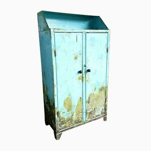Light Blue Factory Cabinet
