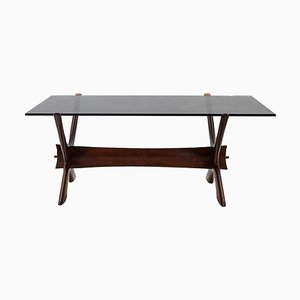Vintage Rosewood Condor Coffee Table by Fredrik Schriever-Abeln for Örebro Glas