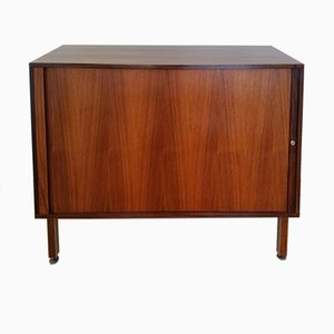 Danish Rosewood Tambour Door Cabinet by Marius Byrialsen for Nipu