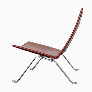 Vintage PK 22 Sessel aus Leder von Poul Kjaerholm für Fritz Hansen, 2er Set