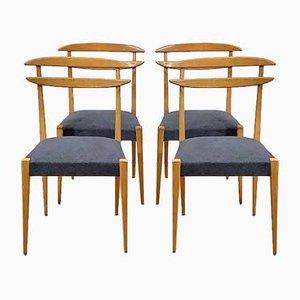 Blonde Italienische Stühle aus Buche, 1950er, 4er Set