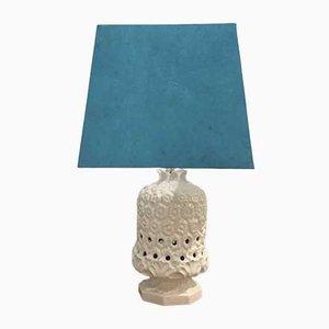Italian Light Cream Ceramic Pineapple Lamp, 1970s