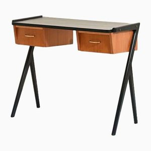 Teak Entryway Console or Small Desk, 1960s