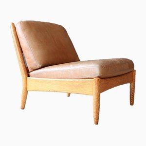 Vintage Sessel aus Eiche & Leder