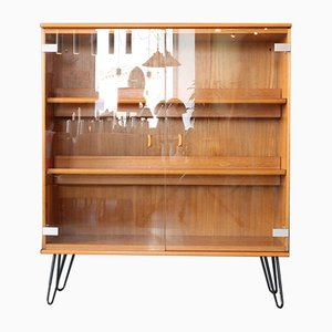 Vintage Showcase Cabinet with Glass Doors, 1960s