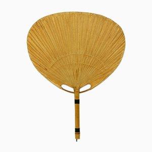 Lampada da parete Uchiwa II in bambù e carta di riso di Ingo Maurer per Design M, anni '70