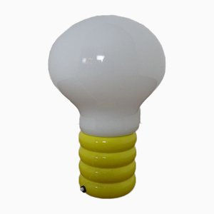 German Yellow Opaline Glass Bulb Lamp by Ingo Maurer for M Design, 1960s
