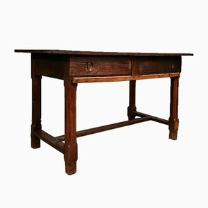 Louis XIV Solid Oak Farmhouse Table with Slides, 1700s