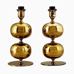 Schwedische Mid-Century Tischlampen von Henrik Blomqvist für Tranås Stilarmatur, 2er Set
