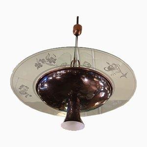 Lampada da soffitto di Pietro Chiesa per Fontana Arte