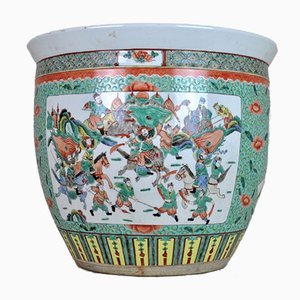 Cuenco para peces chino de porcelana, siglo XX