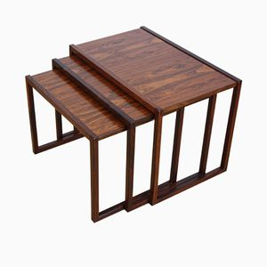 Danish Rosewood Nesting Tables by Kai Kristiansen, 1950s